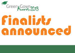 Announcing the finalists of the Green Gown Awards 2013