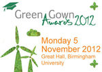 Book your table for the Green Gown Awards 2012 5 November, University of Birmingham