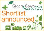 Green Gown Awards 2012 shortlist announced