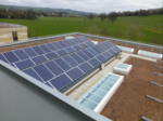 "Solar PV array on our BREEAM-Excellent academic building, ""The Commons""."