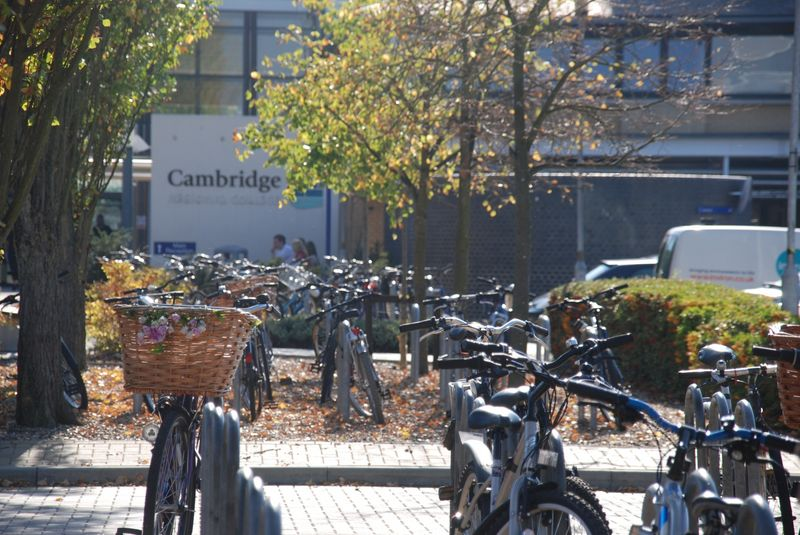 Bicycles at Cambridge Regional College