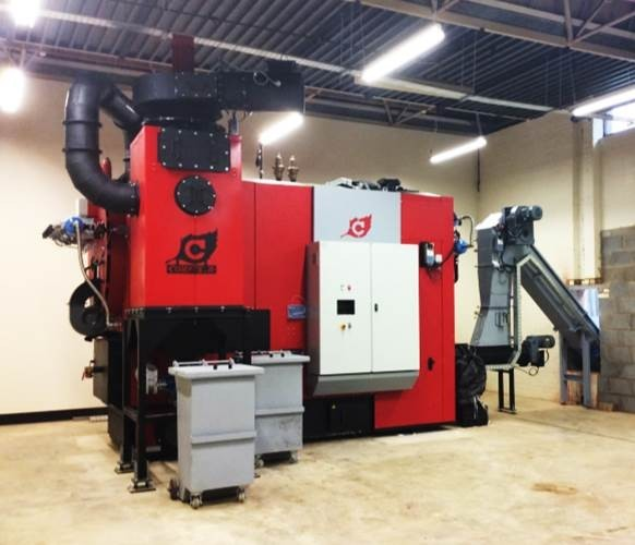 Biomass Boiler: Our biomass boiler was commissioned in February 2015, woodchip is currently sourced from within a 50 miles radius, but there are plans to encourage wood fuel production in our local community forest.