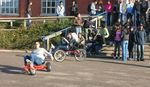 Students sample the joys of Cyclemagic during the college's Go Green day