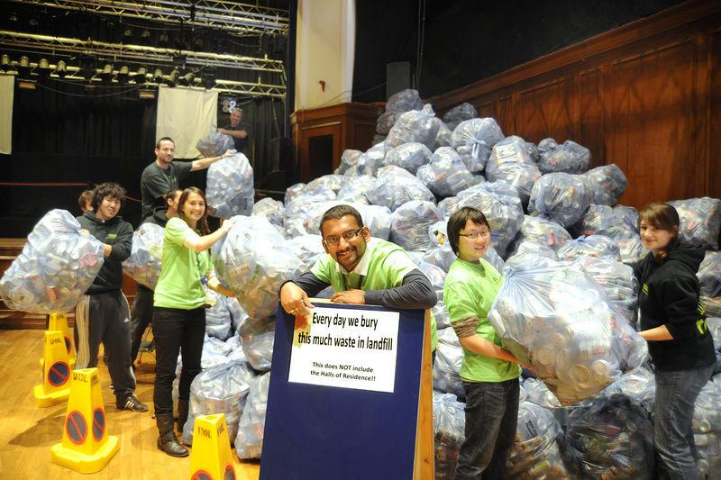 Demonstrating their waste footprint
