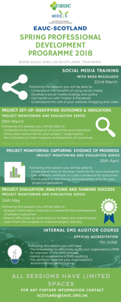 EAUC-S Spring Professional Development Programme