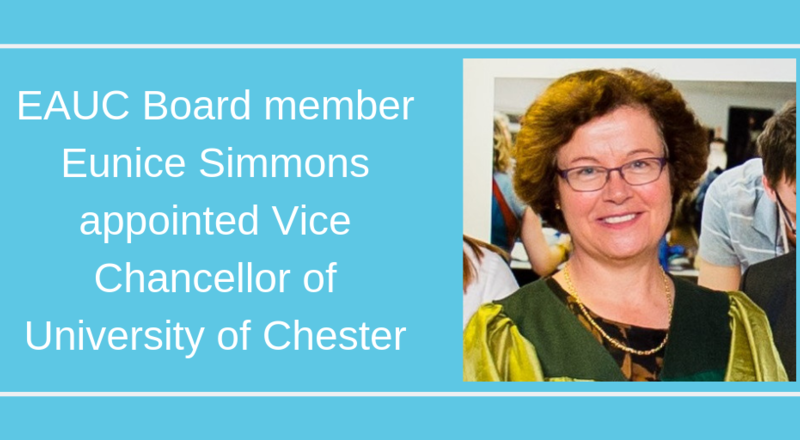 EAUC Board Member Eunice Simmons appointed Vice Chancellor at University of Chester