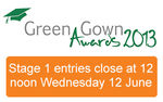Green Gown Awards 2013 open for entries!