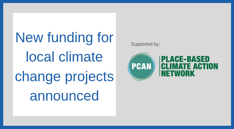 New funding for local climate change projects announced