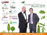 Professor Iain Stewart MBE (here with EAUC CEO, Iain Patton) announced the Green Gown Award 2013 Winners