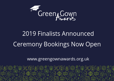 Green Gown Awards UK & Ireland 2019 Finalists
