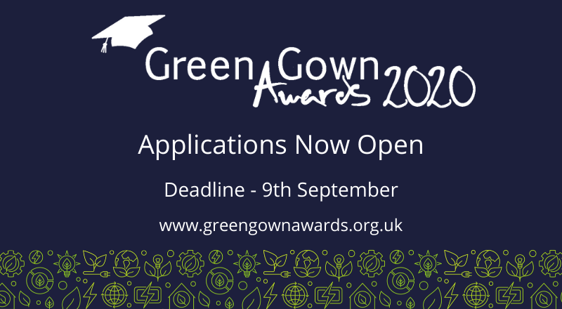 2020 Green Gown Awards Applications Deadline Extended