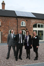 From left to right: Professor Pat Bailey, Pro Vice-Chancellor for Environment and Sustainability; Professor Nick Foskett, Vice-Chancellor; MP Joan Walley, and Dr Sharon George, Sustainability Hub Manager at the opening of the Sustainability Hub in October