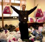 Oxfam Collects in action at Birmingham City University