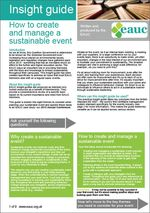 EAUC Insight Guide - How to create and manage a sustainable event