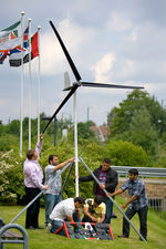 Students learning about green technology (photograph by Nick Lockett/Ofsted)