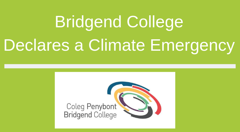 Bridgend College declares its commitment to address the climate emergency
