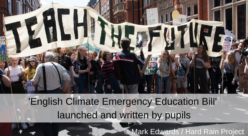 English Climate Emergency Education Bill launched