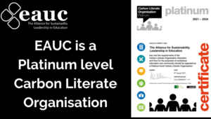Platinum accreditation to deliver Carbon Literacy Training