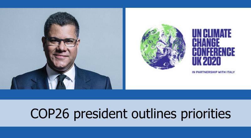 COP26 President discusses priorities