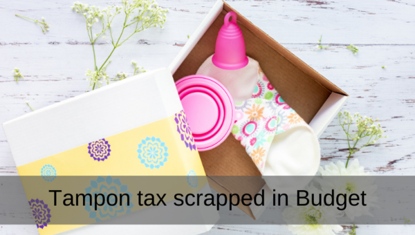 Chancellor announces tampon tax scrapped