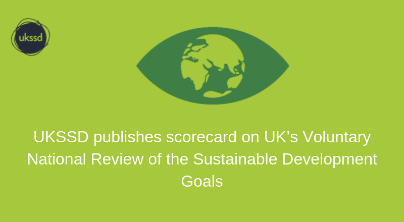 UKSSD publishes Scorecard of UK Voluntary National Review