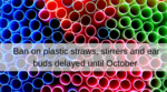 Plastics ban in England delayed