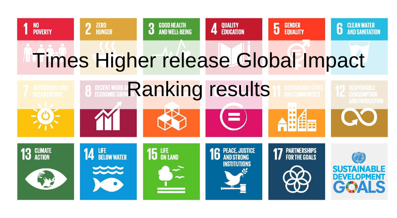 Times Higher release SDG rankings