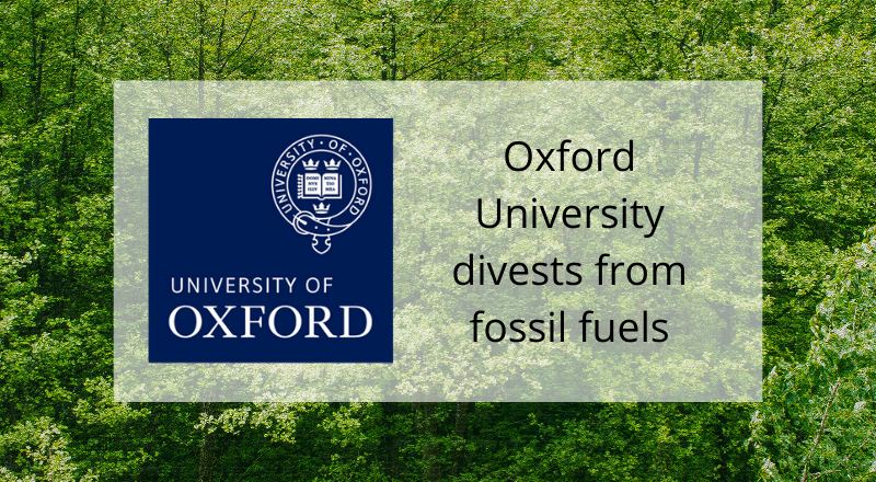 Oxford University announces fossil fuel divestment