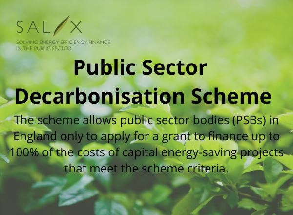 Salix announces the launch of the Public Sector Decarbonisation Scheme