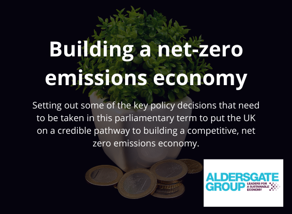 New Aldersgate Report calls for urgent policy decisions regarding net zero emissions