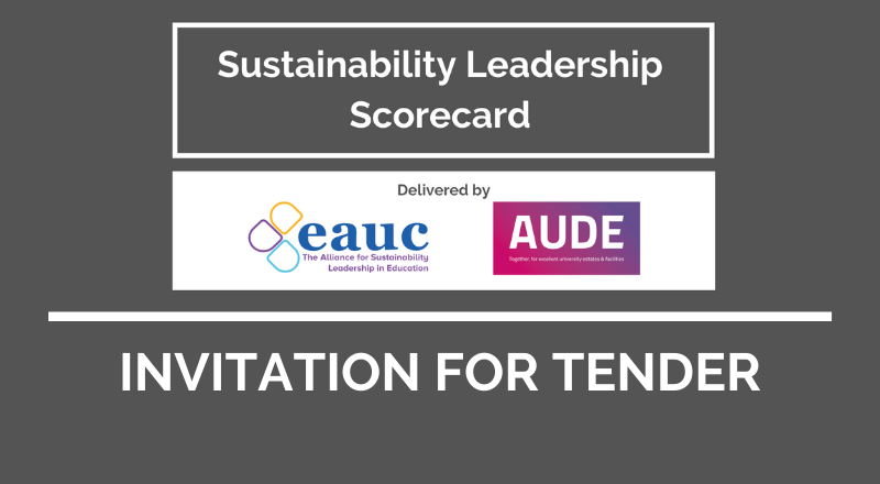 Invitation for Tender - Sustainability Leadership Scorecard