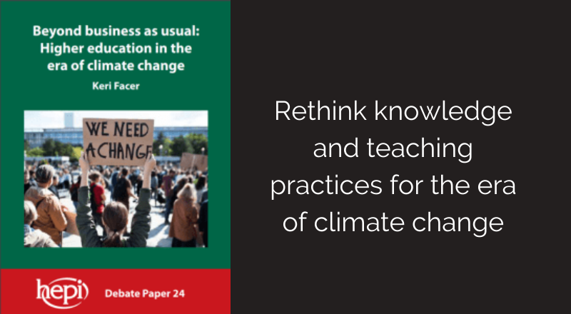 Higher education in the era of climate change