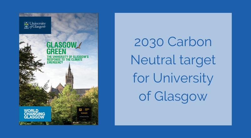 University of Glasgow sets 2030 carbon neutral target