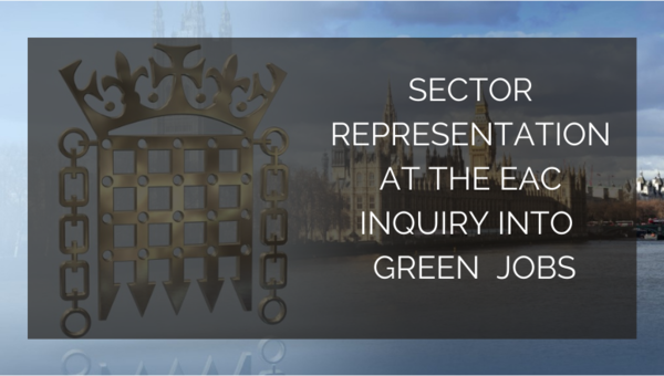EAUC attended the Environmental Audit Committee inquiry into Green Jobs