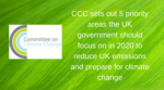 CCC urges UK to prioritise Climate Change action in 2020
