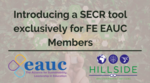 Launch of the SECR Tool exclusively for FE Members image #1