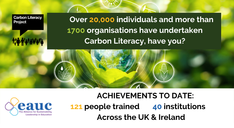 20,000 UK Citizens now certified as Carbon Literate