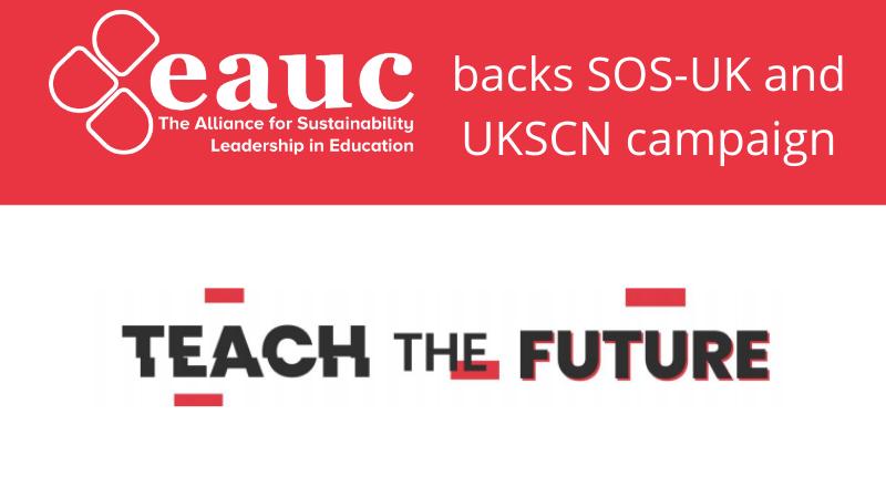 EAUC backs Teach the Future campaign