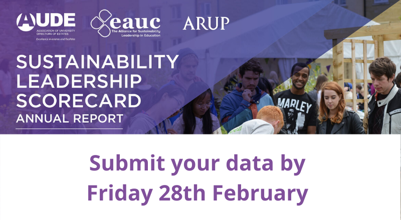 Deadline to submit your Sustainability Leadership Scorecard data