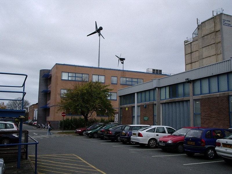 Wind Turbines at City College Plymouth