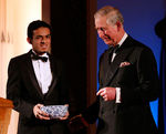 The Prince of Wales presents Gamal Albinsaid with the Young Sustainability Entrepreneur Prize