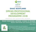 Project Monitoring: Capturing Evidence of Progress workshop