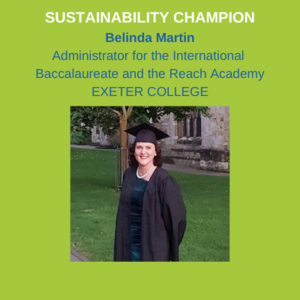 Belinda Martin - Administrator for the International Baccalaureate and the Reach Academy at Exeter College