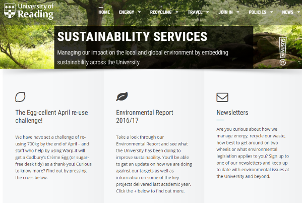 Energy data for the University of Reading is now available online