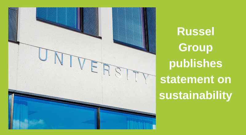 We welcome Russell Group's support on the sustainability agenda