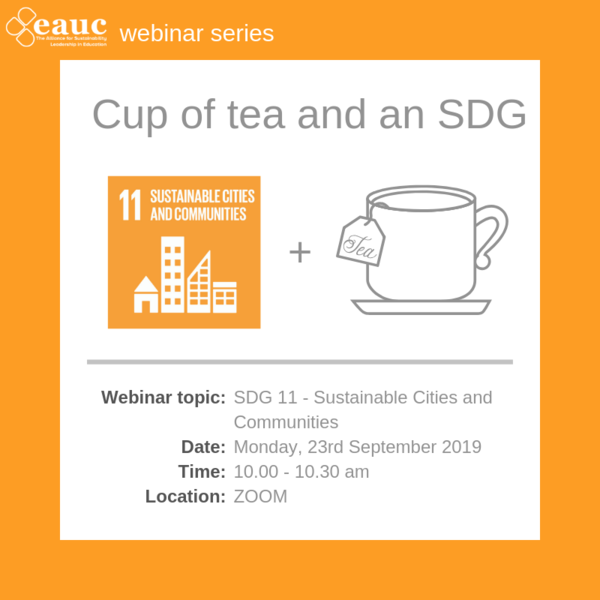 Cup of tea and an SDG (2019) - Goal 11 – Sustainable Cities and Communities