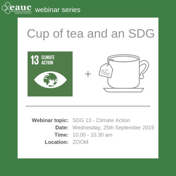 Cup of tea and an SDG (2019) - Goal 13 – Climate Action