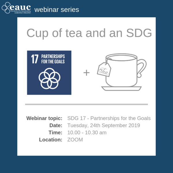 Cup of tea and an SDG 2019 - Goal 17 – Partnerships for the Goals