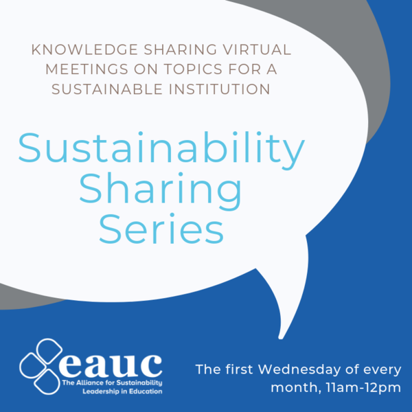 Sustainability Sharing Series: Sustainable events and conferences