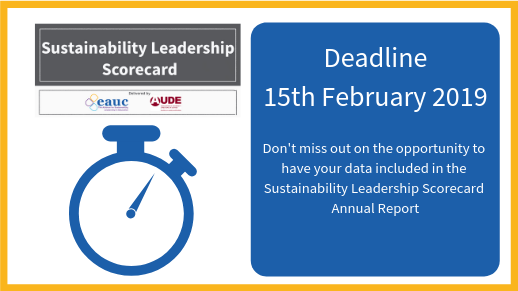 Sustainability Leadership Scorecard Deadline